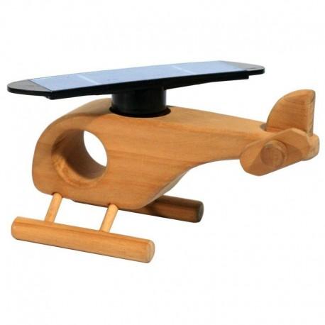 Elicottero in legno di faggio naturale