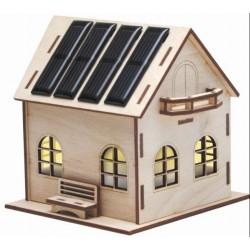 Casetta con luce led in legno